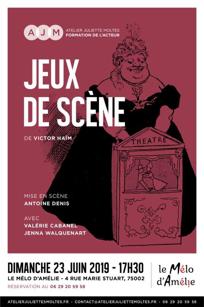 jeux de scène spectacle de l'Atelier juliette Moltes